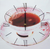 Tea In China Cup Square Wall Clock
